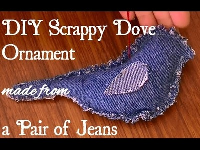 How to Make a Bird Ornament from a Pair of Jeans
