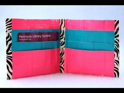 How to Make a Duct Tape Wallet with Extra Pockets | Sophie's World