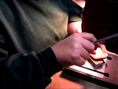 How to make a slide holster: Drilling the stitch holes