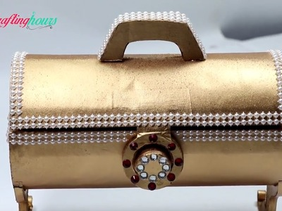 How to Make Antique Royal Style Jewellery Box.Gift Box with Paper & Cardboard