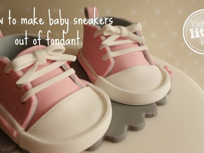 How to make baby sneakers out of fondant