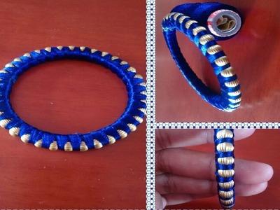 How to make Beaded Silk Thread Bangles || Silk Thread Bangles || Beaded Bangles