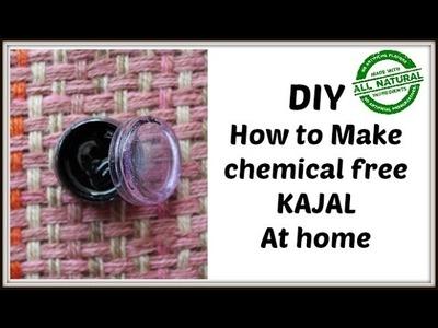 How to Make Chemical free KAJAL at Home|100% Natural|Gel liner