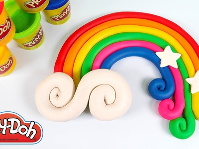 How To Make Play Doh Rainbow Cloud | MonsterKids