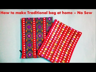 How to Make Traditional  Bags.Clutch at home - NO SEW