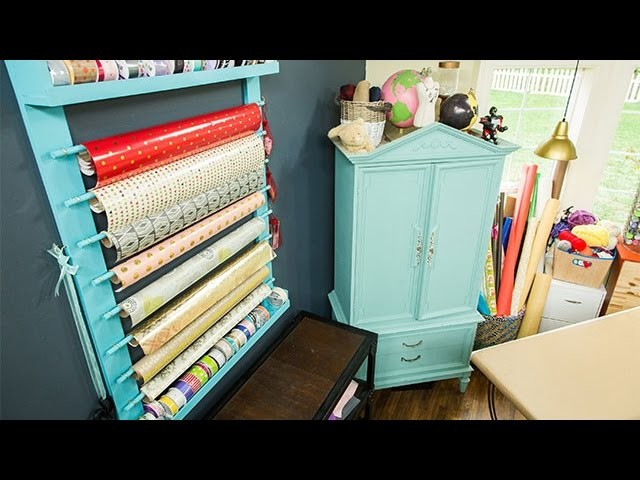 How To - Paige Hemmis' DIY Wrapping Paper Station - Hallmark Channel