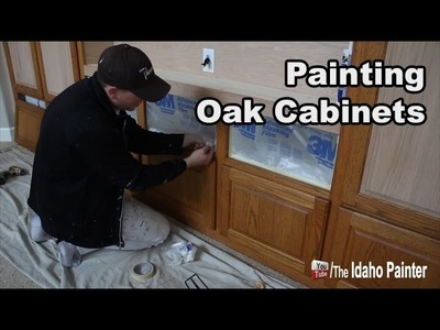 How to paint oak cabinets FAST.EASY