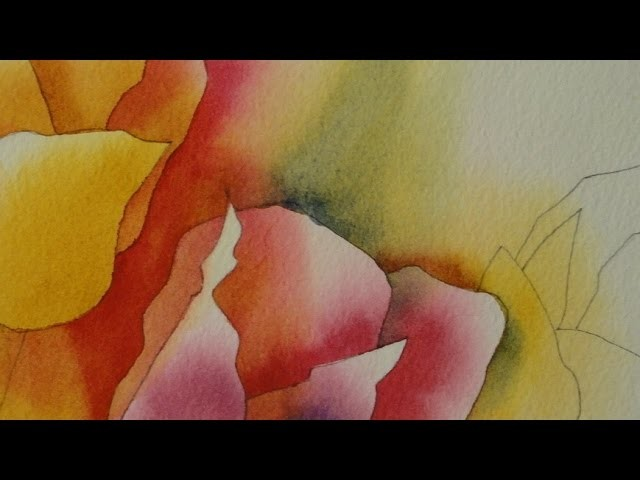 How to Paint Tulips Using Negative Painting (Edges 7 thru 17)