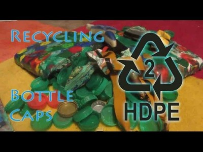 How to Recycle HDPE Bottle Lids Into Very Strong Sheet Material - Easy Method