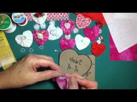 How to sew a heart shaped yo-yo