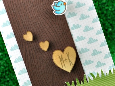 Intro to Woodgrain Backdrops + a card from start to finish