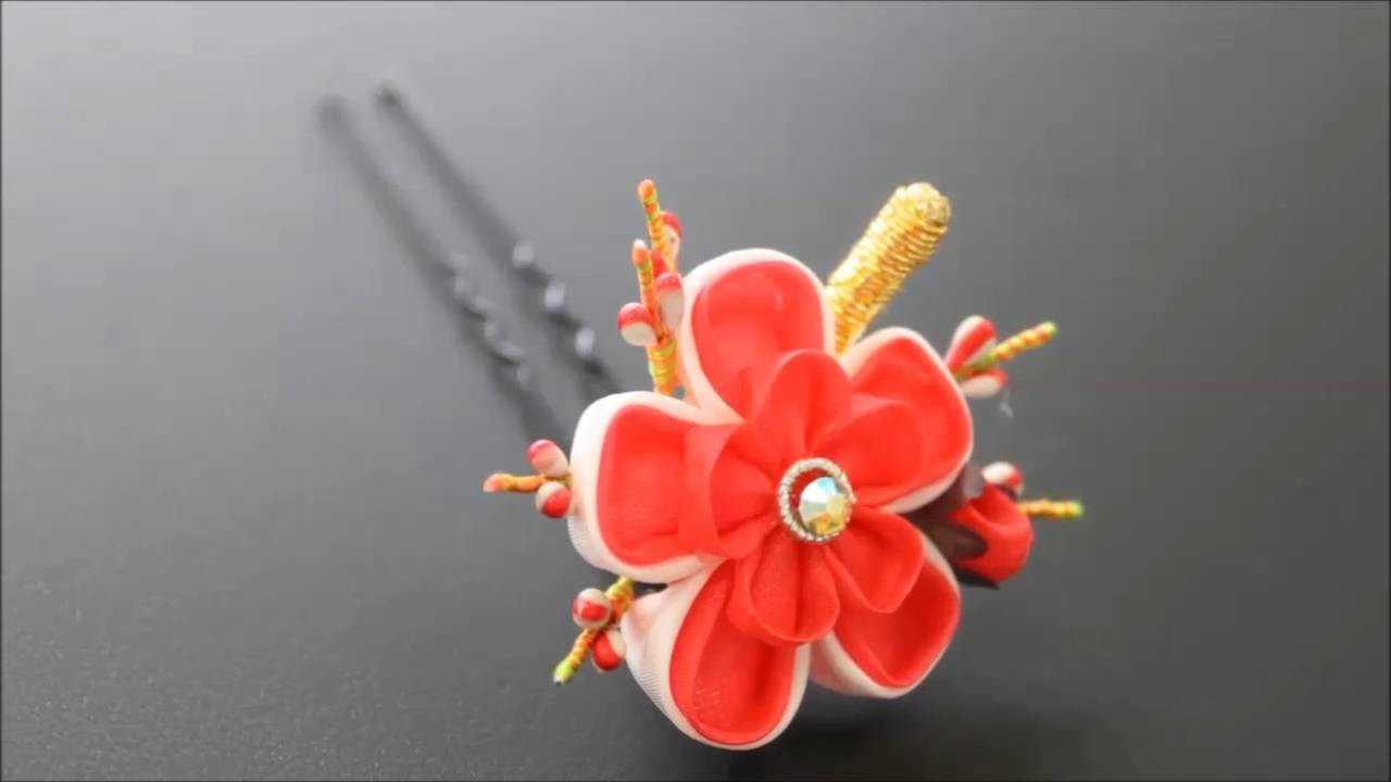Japanese Ornamental Hairpin Kanzashi【small】 Japanese Plum
