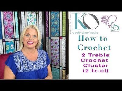 Kristin Omdahl Crochet Library of Stitches: 2 Treble Crochet Cluster 2tr-cl