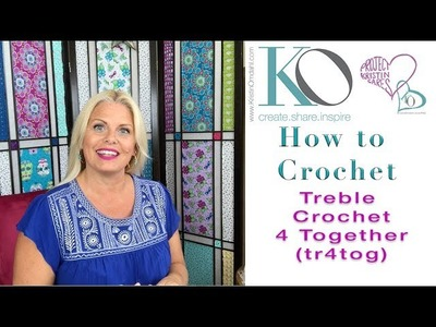 Kristin Omdahl Crochet Library of Stitches: Treble Crochet 4 Together tr4tog