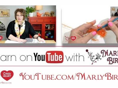 Learn how to Knit or Crochet from Marly Bird National Spokesperson for Red Heart Yarns