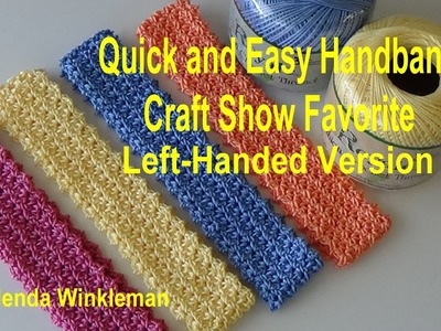 Left-Handed Version Quick and Easy Headband #121 (FREE PATTERN at the end of video)