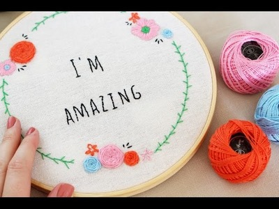 Letters embroidery | backstitch, split stitch and french knot