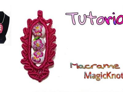 Macrame Mandala Oval Tutorial ♥ Pendant ♥ Magic Knots ♥