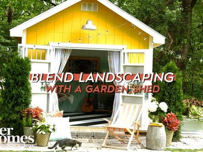 Make a Shed Blend With Your Landscaping