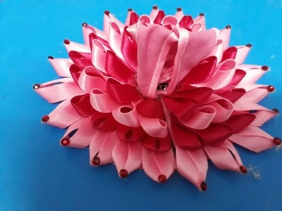 Make Lotus shape poshak with satin ribbon for Bal Gopal - Most easy way of making summer dress