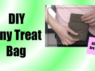 Make Your Own Small Treat Bag Tutorial