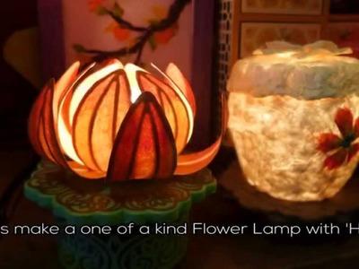 Making a Flower Lamp (Hanji Art in Insadong)