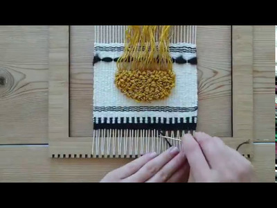 Making a Woven Wall Hanging - Step 9:  Finishing with Hem Stitch - Weaving for Beginners
