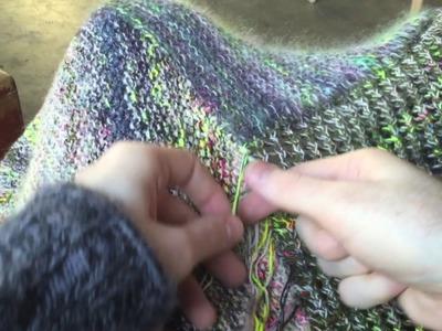 Marled Magic Shawl - Weaving in Ends & Braid