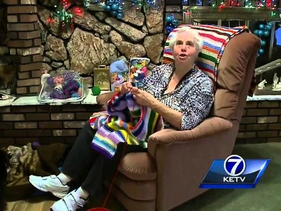 Omaha woman to donate year's worth of knitting for the 40th year