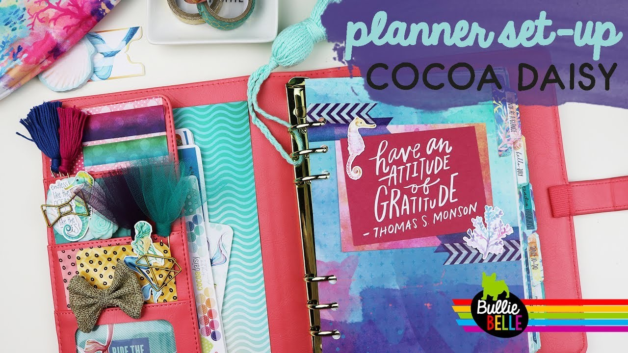 Planner Set Up Cocoa Daisy July 2017 Under The Sea