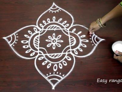 Rangoli designs for diwali with 3x3 straight dots- deepavali muggulu- kolam designs for diwali