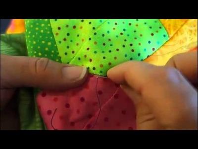 Repairing a Seam - Pressed Open using Ladder Stitch