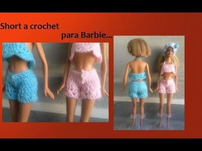 Short a crochet para barbie