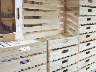 Simple Wooden Crates for Potato.Vegetable Storage