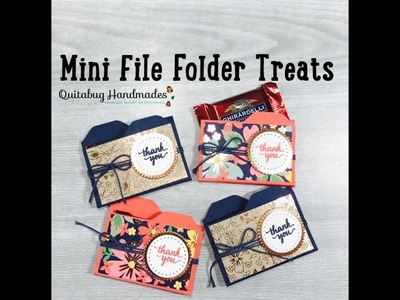 Stampin' Up! Mini File Folder Treats featuring Eastern Beauty  April Team Make-n-Take