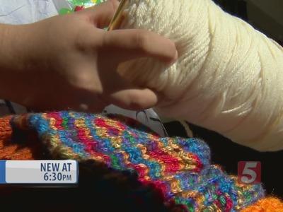 Teen Crochets Hats For The Homeless