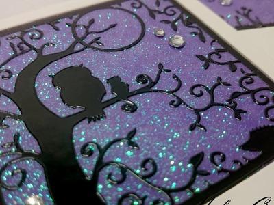 Tutorial | Glitter Night Scene Card (no mess!)
