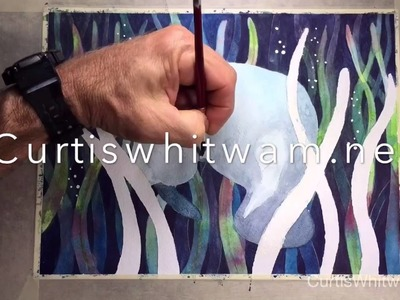 Watercolor Painting in the Negative: Creating Depth