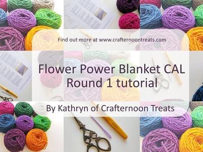 Week 1 tutorial: The Flower Power Blanket CAL