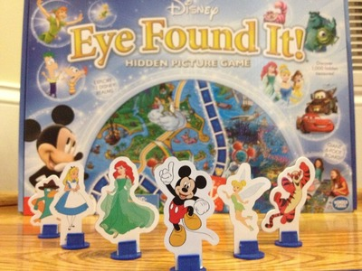 World of Disney Eye Found It Board Game with Mickey Mouse, Ariel, Tinker Belle, and Radiator Springs