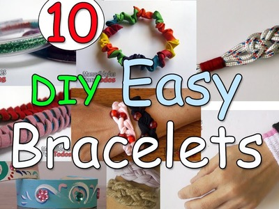 10 DIY EASY Bracelets - Ana | DIY Crafts