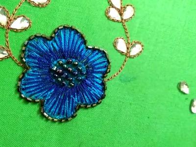 Aari work - Beautiful flower design