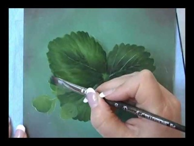 Acrylic Painting Techniques - How to Paint Leaves - Dry Brush Technique