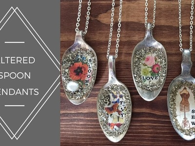 Altered Vintage Spoon Pendants for Spring or Valentine's Day