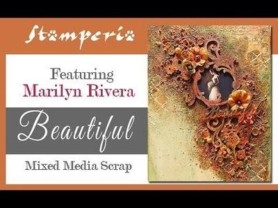 Beautiful: mixed media canvas tutorial