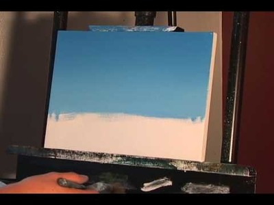 Blending a blue sky.  Follow up to Week 1 online painting lessons.  www.timgagnon.com