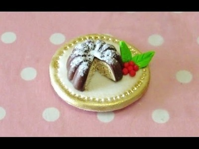 Christmas pudding-cake (tutorial on sweetorials)