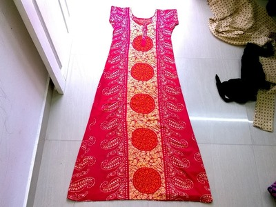 Churidar model maxi(nighty) cutting and stitching part 1