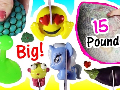 Cutting OPEN Squishy 15 POUND HUGE Homemade STRESS Ball! MLP Fashem Turtle! Eggplant! FUN