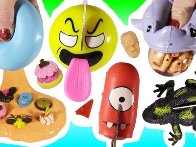 Cutting OPEN Squishy Scary SHARK! Homemade Disney SLIMY STRESS BALL! Baby Bottle Emoji! FUN